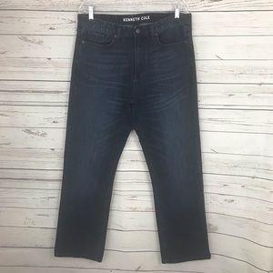 Kenneth Cole, Men's Straight Jeans, Dark wash